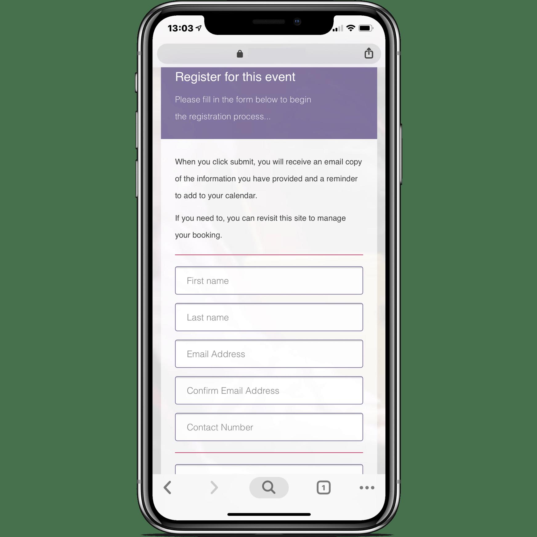 eReg Existing Client Example Site