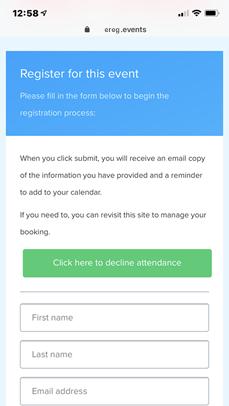 Delegate Registration Mockup